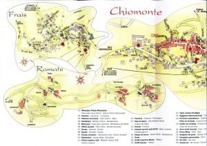 cartina delle frazioni di chiomonte
