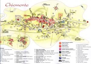cartina del paese di Chiomonte