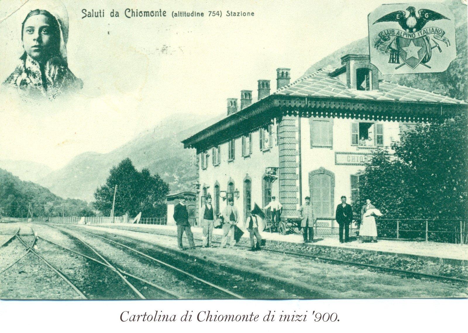 Cartolina di Chiomonte di inizi '900