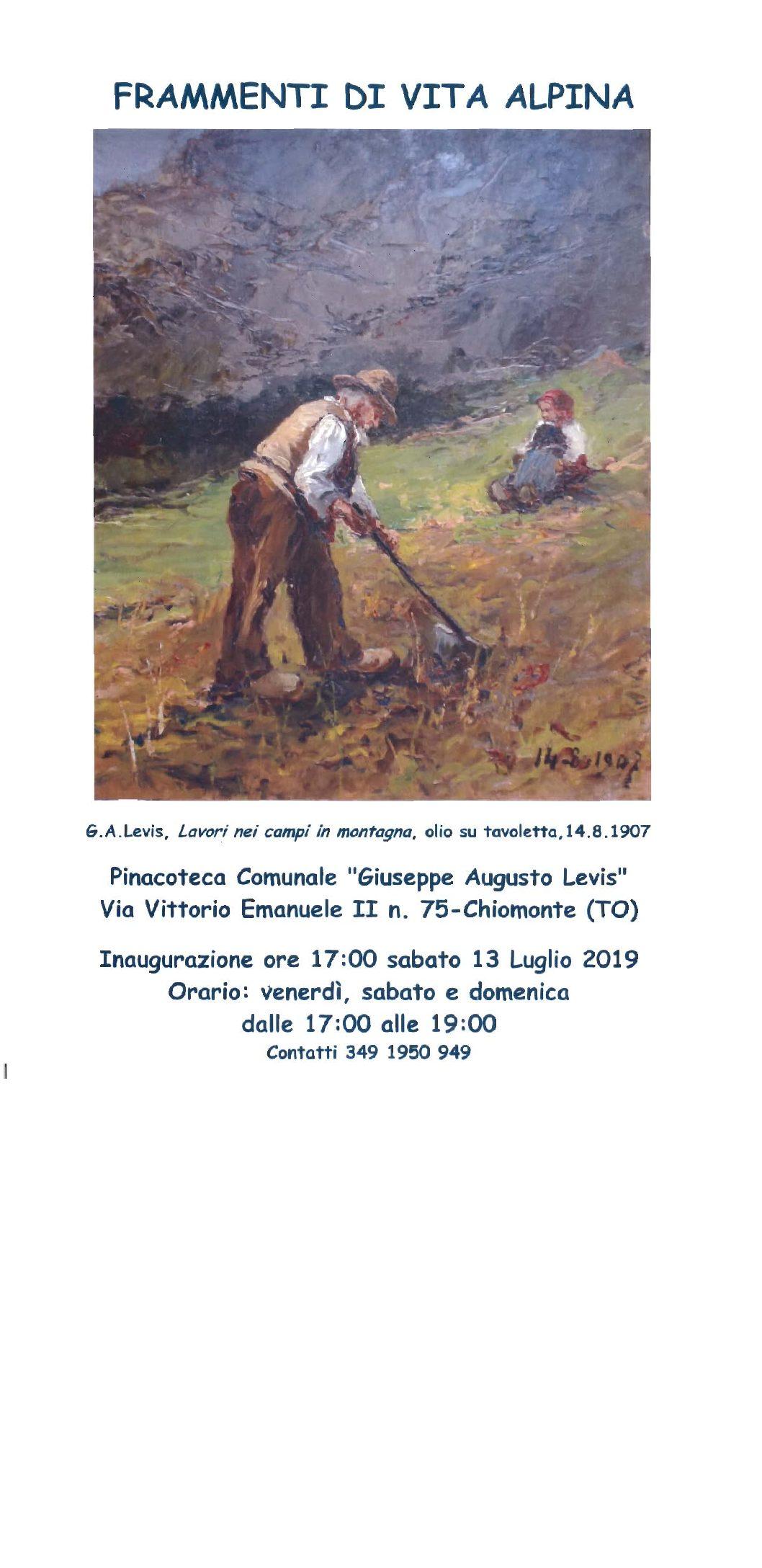 Mostra temporanea presso la pinacoteca Levis